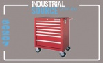 ROLLER CABINET 7 DRAWER RED